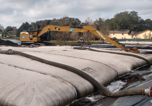 Geotextile Tube on Site